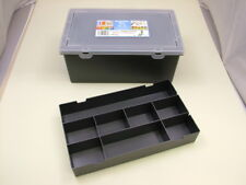 Plastic storage box with removable 8-division small items tray, 29 x 13 x 19cm