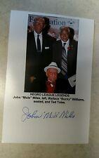 Vintage Negro League Baseball JOHN MULE MILES Autograph Signed Photo W/Legends