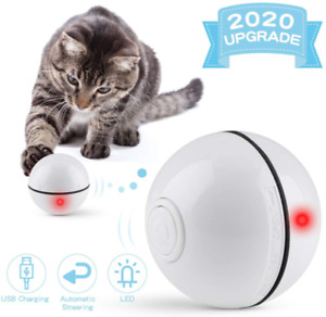 Cat Toys Ball Best Cat Interactive Toy Automatic Self-Rotating and USB Charging