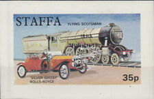 W STAFFA 029 NON POSTAL LOCOMOTIVE AUTOMOBILE SOUVENIR SHEET
