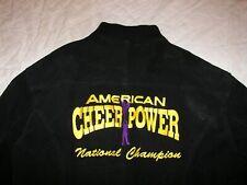 American Cheer Power National Champion Varsity Black Leather Jacket - Men's S