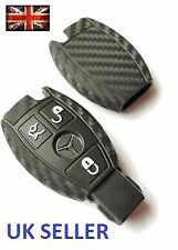 MERCEDES KEY COVER A C E S SL CLK SLK ML CLASS AMG REMOTE SMART BENZ CARBON 3