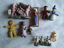 Lot of Shrek Mini Figures from McFarlane Toys, snow white, gingy, wolf, mice