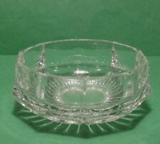 "crystal vase 4"" diameter 2"" tall"