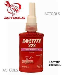 Loctite 222 Low Strength Threadlocker All Metal Adhesive Glue 50 ml_Actools