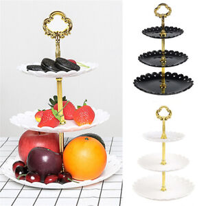 3-Tier Cupcake Stand Dessert Holder Tray Wedding Birthday Party Display Tower