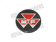 NEW MASSEY FERGUSON ROUND BLACK RED LOGO STICKER UNIT 90MM (code1085)