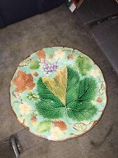 "8 3/4"" Wedgwood Turquoise Majolica Strawberry Plate"