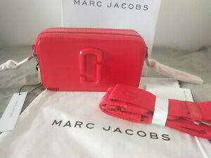 NWT Genuine Marc Jacobs Snapshot DTM Small Camera Bag Crossbody  red hot..