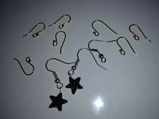 Black Star Earrings - Along With Gold & Silver Colored Jewelry Making Supplies