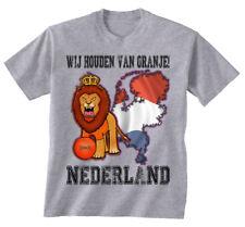 Netherlands Football Mascot T-Shirt *Choice Of MENS LADIES KIDS* Fan Shirt