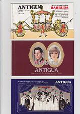 A   Barbuda  3 Booklets  25th Ann Coronation,Silver Jubile & Royal Wedding  MNH