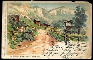 CP SUISSE  LES ETABLES village suisse paris 1900  (72)