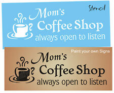 Joanie Country Kitchen Stencil Mom Coffee Shop Java Mocha Cup Open DIY Signs