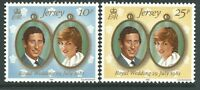 Jersey 1981 - Prince Chales and Lady Diana Royal Weadding Royalty - Sc 280/1 MNH