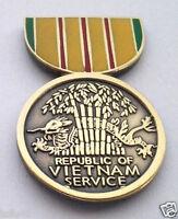 VIETNAM SERVICE MEDAL Military Veteran Hat Pin 14759 HO