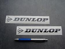 2x stickers DUNLOP Auto Moto Noir 19cm decals pegatinas aufkleber A39-070
