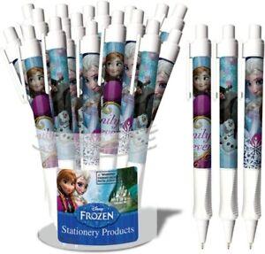 DISNEY FROZEN PLASTIC GRIP PENS IN A CANISTER, 1 Case (24 Pens) Wholesale lot
