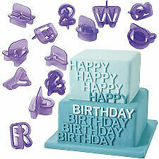 NEW Wilton Alphabet / Number Cut-Outs Cake Decorating Cake Baker