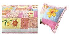 Olivia Pink Twin Quilt w/ Pillow Sham