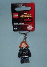 NEW LEGO SUPER HEROES AVENGERS, BLACK WIDOW MINIFIGURE KEY CHAIN, 853592