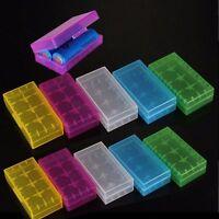 New 10Pcs 2 X 18650 CR123A 16340 Hard Plastic Battery Case Box Holder Storage LN
