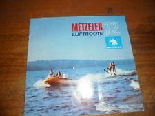 Prospekt Sales Brochure Metzeler Luftboote Segelboote Kanu Schlauchboot