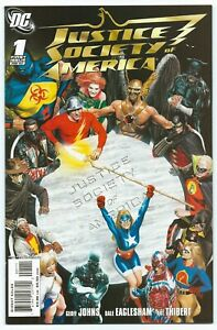 JUSTICE SOCIETY OF AMERICA #1 Feb 2007 NM/MT 9.8 ROSS Cover 1st NEW STARMAN B/O