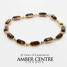 ITALIAN MADE BALTIC AMBER BRACELET IN 9CT GOLD -GBR060L  RRP£425!!!