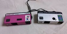 Lot of 2 Vintage Cameras pink Mickey matic and Kodak pocket instamatic 10