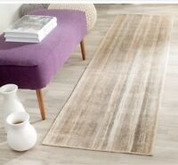 Safavieh Vintage Caramel Abstract Distressed Silky Viscose Rug - 2'2 x 8'