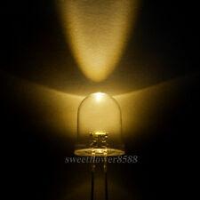 100pcs 10mm Warm White LED Ultra Bright LED Light Lamp 10MM Warm White LED