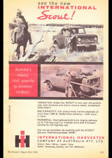 "1962 INTERNATIONAL HARVESTER SCOUT AD A3 CANVAS PRINT POSTER FRAMED 16.5""x11.7"""
