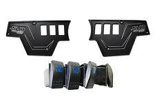 Upgrade Polaris RZR CNC Black Powdercoat Dash Panel kit 1000XP Switch Side by xp