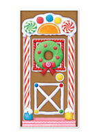 GINGERBREAD HOUSE holiday party SCENE SETTER wall/door cover poster Christmas