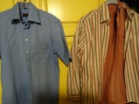 homme lot = 3 chemises T42+polo bleu offert