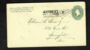 1897 New York - Chas. Pfizer & Co.(Pfizer Pharmaceutical Co.) Business Cover