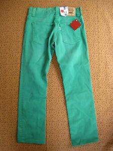 Pantalon Levi's 511 slim Jeans Vert Vintage Pants Homme - W30 L34