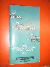 1983 Ford Fairmont Futura Original Operators Owners Manual Guide