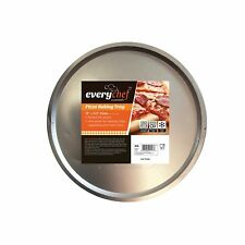 "New Large 13"" x 0.3"" Pizza Tray Kitchen Oven Pan Round Baking Base Tin Dish"