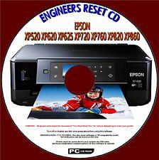 EPSON XP520 XP625 XP720 XP760 XP820 ENGINEERS WASTE INK PAD RESET/REPAIR PC DISC