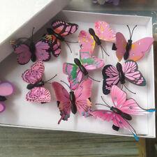 Imitación 3D Mariposa Clips para Pelo Festival Fiesta Verano Conciertos 10 Pzs