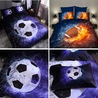 3D Football Fire Duvet Cover Bedding Set Soft Quilts Cover Set Pillowcase
