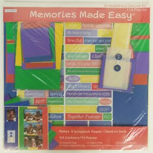 Colorbok embellished Deluxe Scrapbook Kit 12x12 Memories Made Easy Colors Words