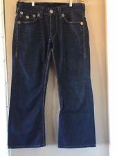 Men's True Religion Brand Jeans Size 33W x 32L (Made in USA) Buddha