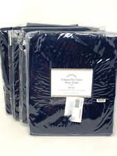 New~4 Pottery Barn Belgian Linen Flax Sheer Drapes~Navy~50x108