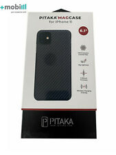 "Case Pitaka Aramid CARBON FIBER for Apple iPhone 11 6.1"" - BLACK - KI1101R"