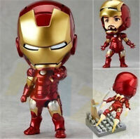The Avengers Iron Man Mark 7 PVC Action Figure 10cm Model Toy In Box Collection