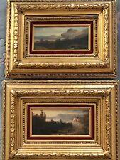 2 Lago Maggiore 1880 Ölbild Gemälde Bild goldrahmen gold rahmen Ölgemälde Barock
