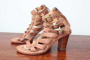Ash Gladiator Style Heeled Sandals, Size EU 35, UK 3